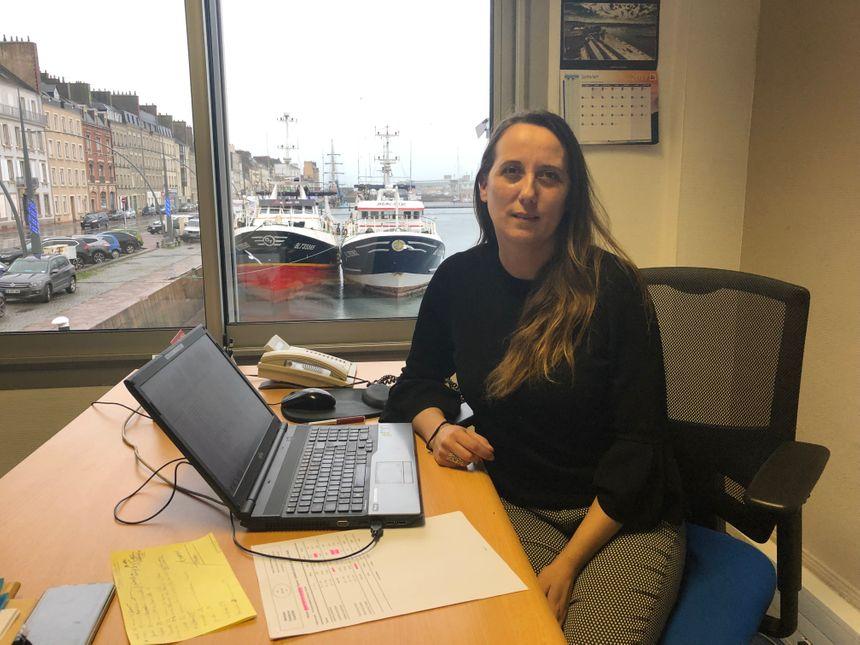 Séverine Jean, responsable d'exploitation à la criée de Cherbourg.
