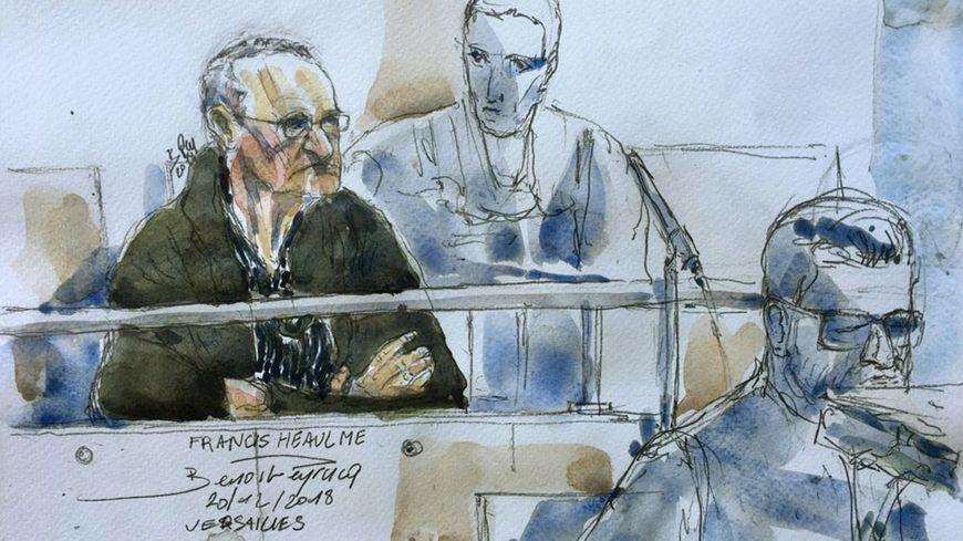 Francis Heaulme devant la cour d'assises des Yvelines.