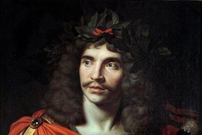 Jean-Baptiste Poquelin, dit Molière (1622-1673), peinture de Nicolas Mignard, en 1657.