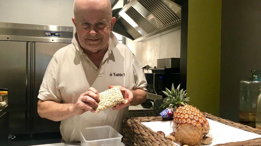 Philippe Aerts a concocté un repas de fête sans gluten, sans lactose et végétarien.