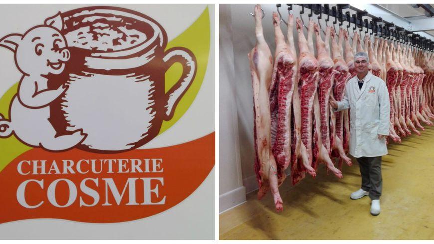 Les bouchers de la charcuterie Cosme découpent et transforment près d'un millier de porcs par semaine.