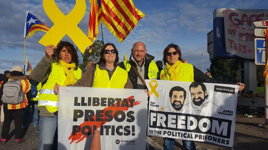 Des indépendantistes catalans avaient rejoint les Gilets jaunes et ont participé au blocage