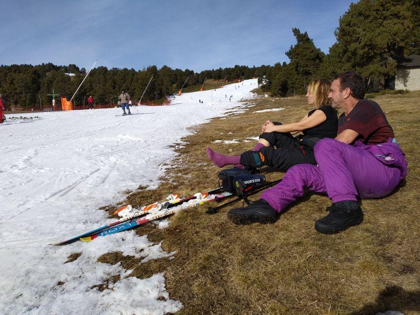 Presque autant de touristes à pieds qu'à ski, sur les pistes de Font-Romeu