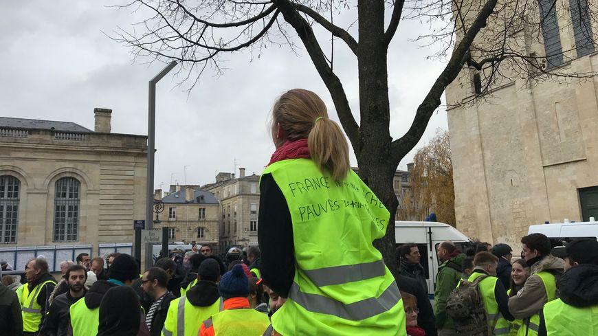 A Bordeaux, la mobilisation des Gilets jaunes est plus forte que samedi dernier.