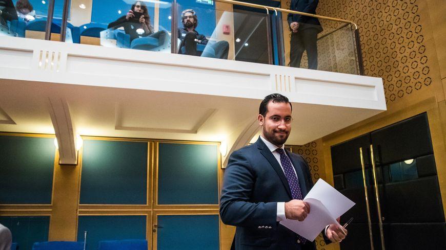 Alexandre Benalla, lors de sa première audition devant la commission d'enquête du Sénat le 19 septembre 2018 à Paris