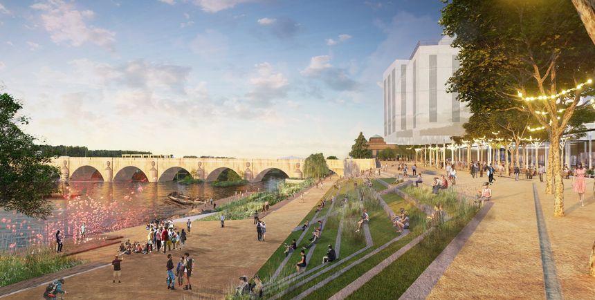Les bords de Loire seraient aménagés en escalier