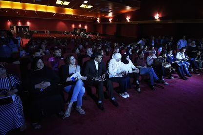 Une projection pendant le Festival du Film arabe à Oran, (juin 2015)