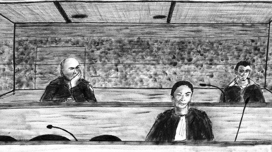 Nicolas D. (à droite) derrière son avocate, Emilie Bonnin--Bérard