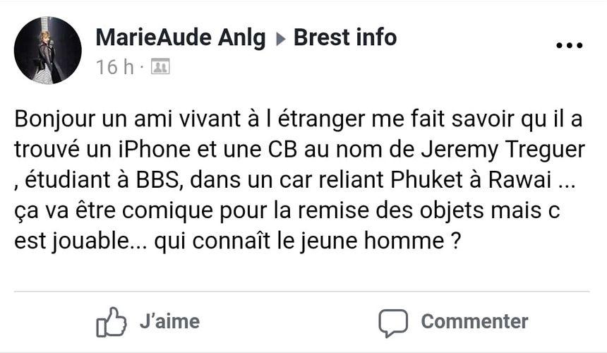 Le message a été relayé des dizaines de fois par des bretons.