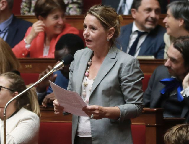 Anne-Christine Lang à l'Assemblée nationale en 2018.