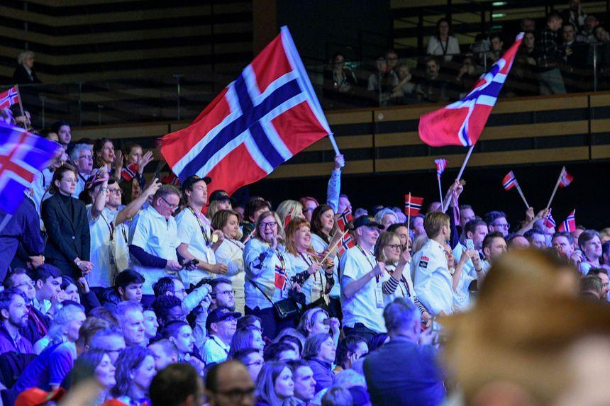 Coupe du monde de foot ? Non, Bocuse d'Or avec les supporters norvégiens.