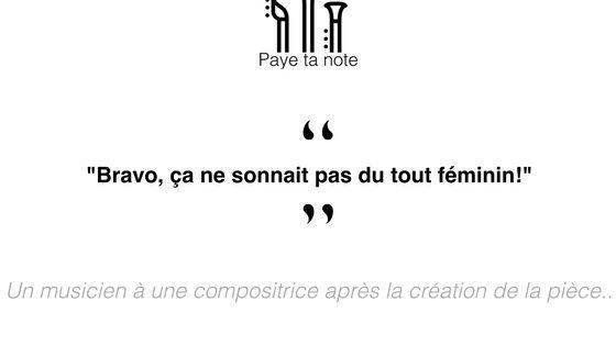 Capture d'un message publié sur Paye ta note, le site qui dénonce le sexisme dans le monde de la musique.