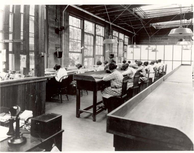 Usine de l'United States Radium Corporation, New Jersey, 1922