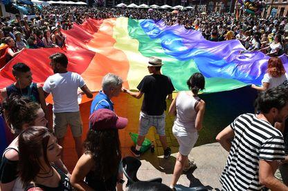 Le 10 juin 2017 à Toulouse pendant la Gay pride