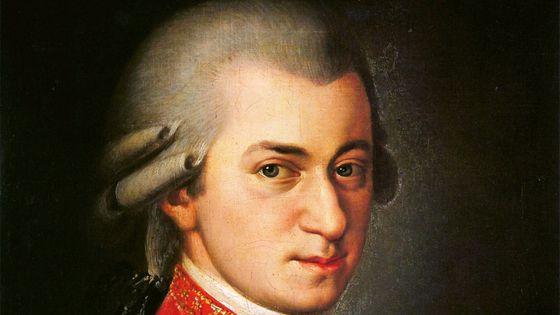 Wolfgang Amadeus Mozart. Portrait peint par Barbara Kraft en 1819 (détail)