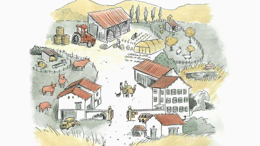 La ferme de Terre Rouge est gérée par un collectif d'agriculteurs.