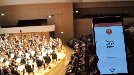 L'ONL a développé une application permettant au public d'échanger avec l'orchestre et de comprendre comment l'œuvre qu'il va entendre est construite