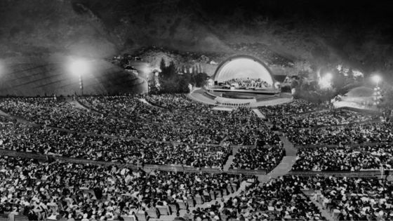 Hollywood Bowl, 1937, l'Orchestre Philharmonique de Los Angeles durant le Gershwin Memorial Concert