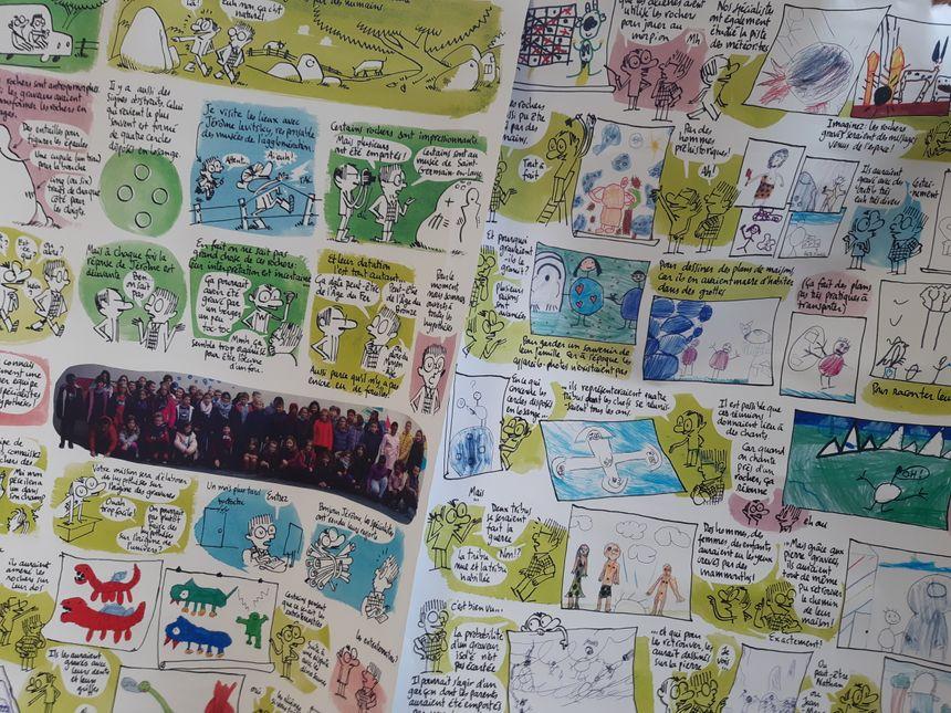 L'auteur Thomas Dupuis a travaillé avec les dessins et les textes des enfants