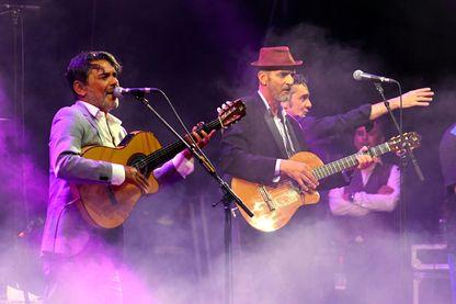 Les Négresses Vertes en concert pendant le Festival Les Déferlantes Sud de France le 7 juillet 2018