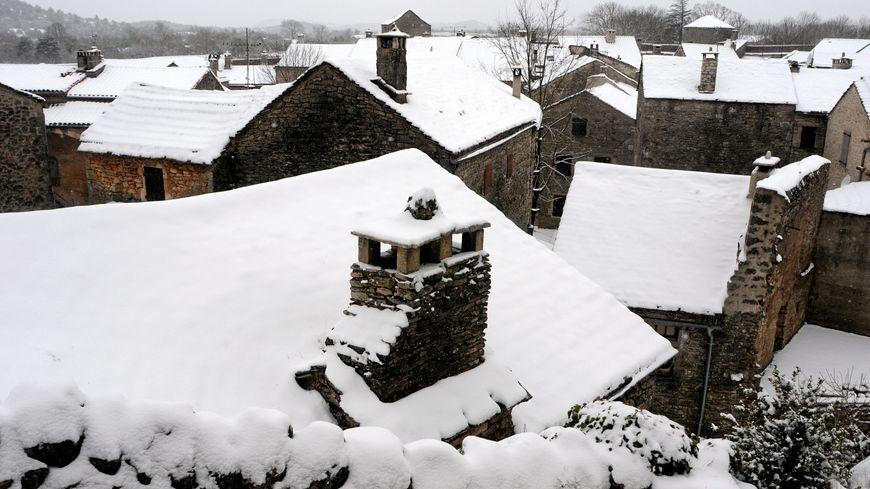 On attend jusqu'à 10 cm de neige en Aveyron ce mercredi.