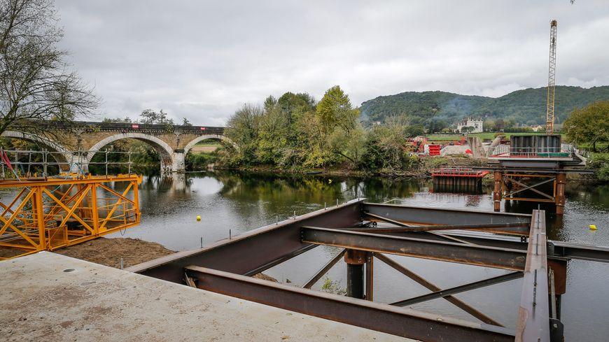 Le chantier de Beynac début novembre.