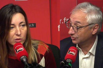 Katia Dubreuil, présidente du syndicat de la magistrature et Basile Ader, avocat, vice-bâtonnier de Paris, mobilisés contre la réforme de la justice