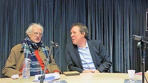 France Musique, studio 131... Cinéaste et cinéphile, Bertrand Tavernier & Le producteur Benoît Duteurtre (g. à d.)