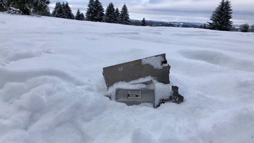 Les débris du Mirage 2000 disparu en vol le 9 janvier 2018 entre Doubs et le Jura