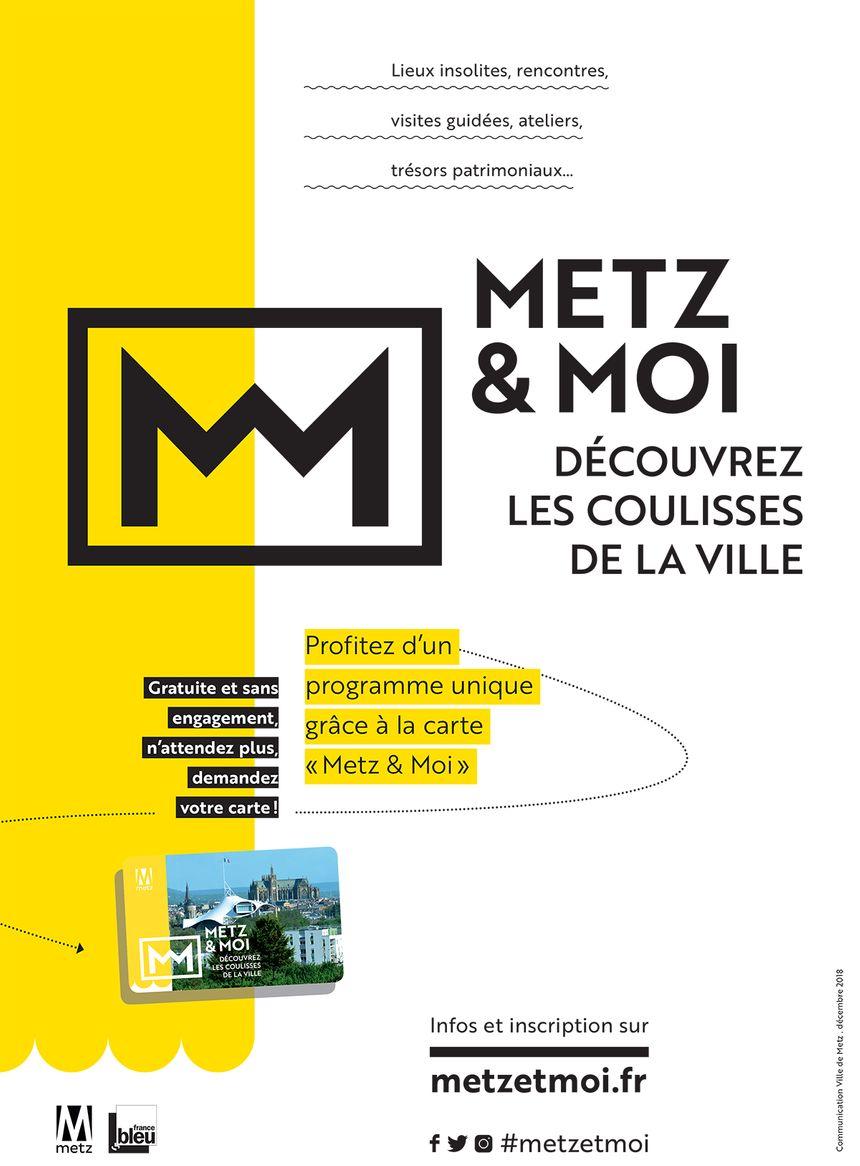 Affiche pour la promotion de la carte Metz et moi