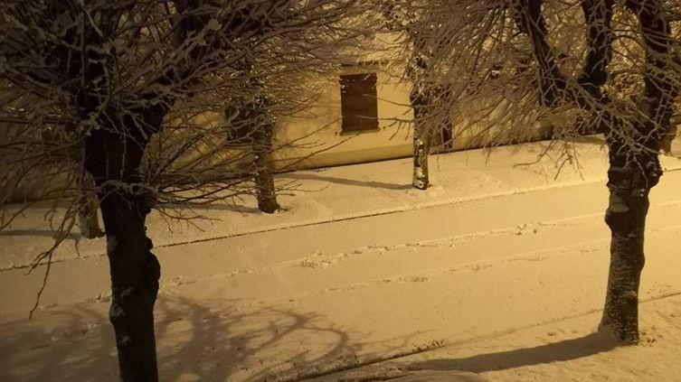 Il a neigé dans la nuit de mardi à mercredi dans le nord du Loiret (ici à Dadonville)