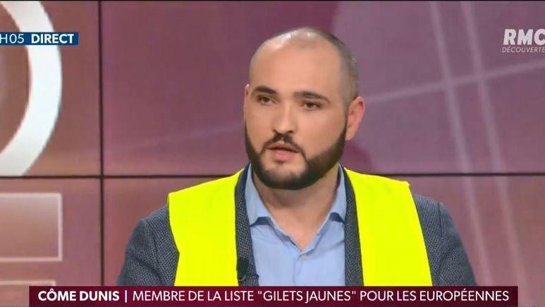 Côme Dunis, gilet jaune montargois sur la liste aux européennes