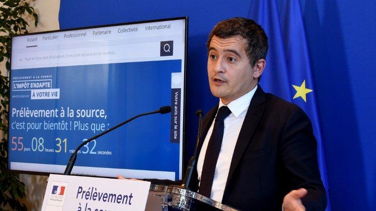 Le ministre des Comptes publics Gérald Darmanin à Paris, le 6 novembre 2018