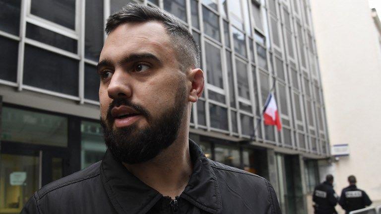 Eric Drouet à la sortie de sa garde à vue jeudi