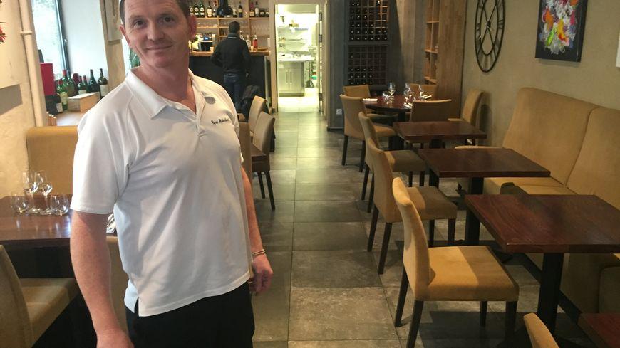 Cyril Haberland dans son nouveau restaurant ouvert en octobre 2018 à Périgueux