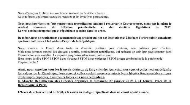 """Lancée par Laurent Soulié, auteur de la page """"STOP, Maintenant ça suffit"""", la manifestation est co-organisée par le Mouvement des Foulards Rouges et rejointe par le collectif des Gilets Bleus"""