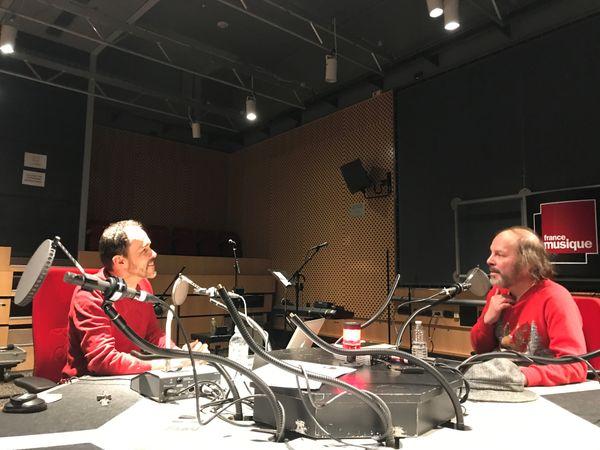 Martin Pénet et Philippe Katerine à Radio France
