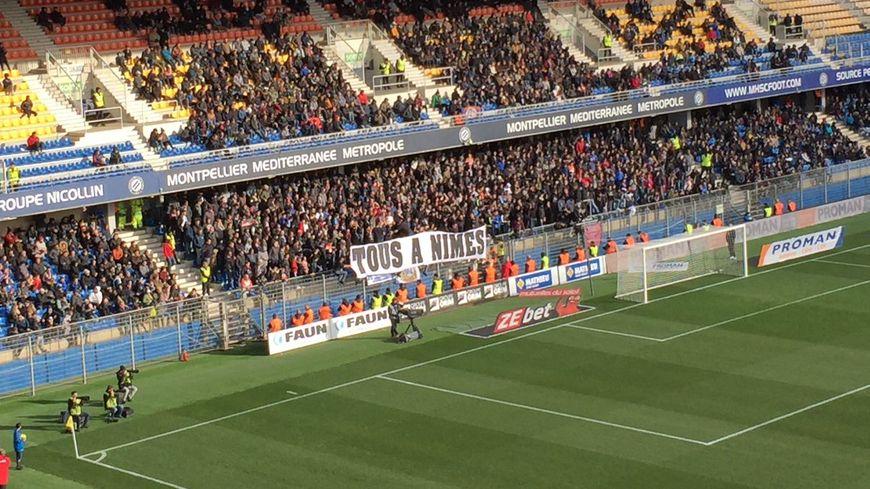 Les supporters montpelliérains ont clairement affiché le message avant le derby contre Nîmes