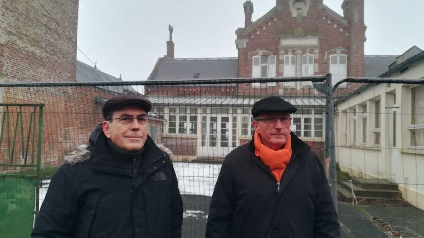 Jean-Marie Lehoueller et Jean-Luc Petit opposés à la destruction de l'ancienne école des garçons d'Ailly-sur-Noye dans la Somme