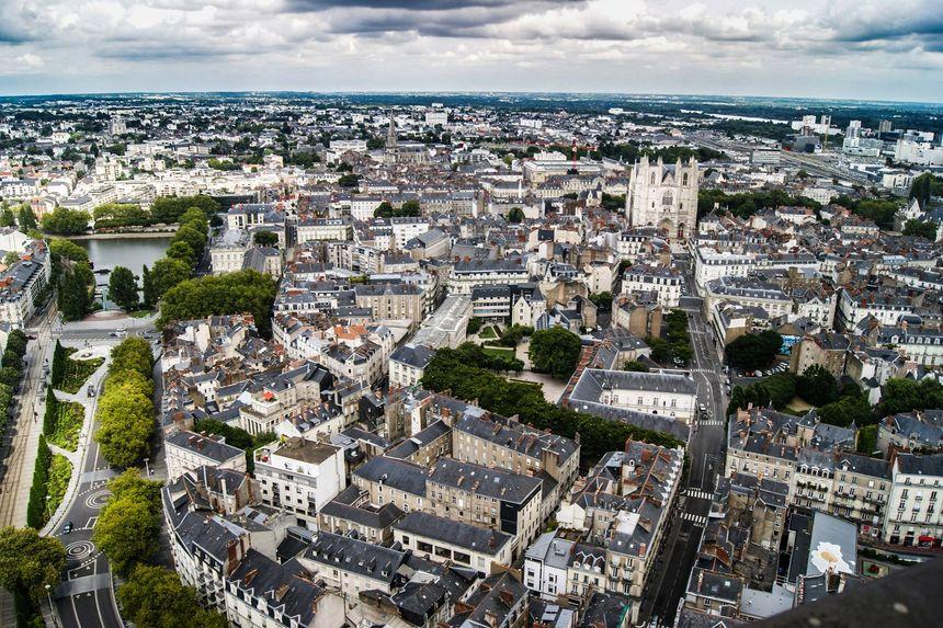Nantes vue de haut
