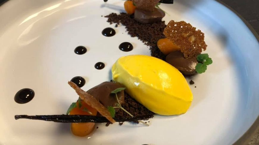 Glace de butternut et chocolat