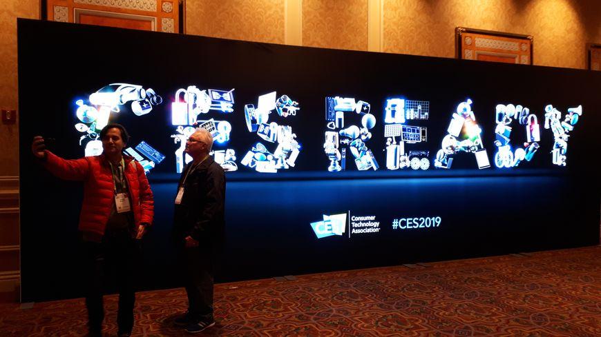 A l'entrée du CES, à Las Vegas