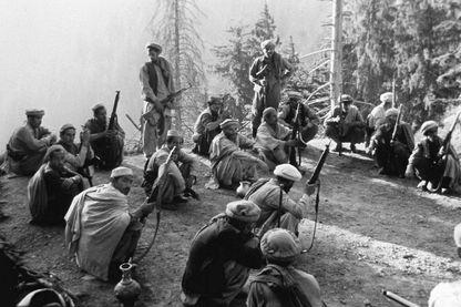 Des combattants moudjahidines Afghans le 17 novembre 1981 (lieu inconnu)
