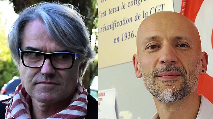 Cédric Caubère, secrétaire général CGT en Haute-Garonne et Pierre Cabaré, député LREM de la 1ère circonscription de Haute-Garonne