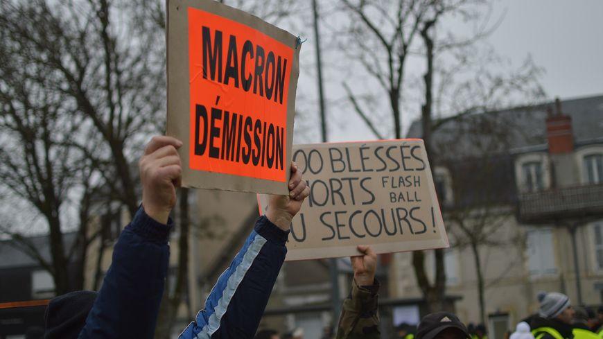 """Manifestation des """"gilets jaunes"""" (illustration)."""