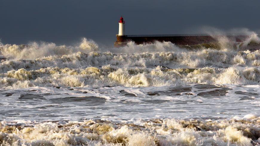 Le vent se lève sur la plage des Sables d'Olonne
