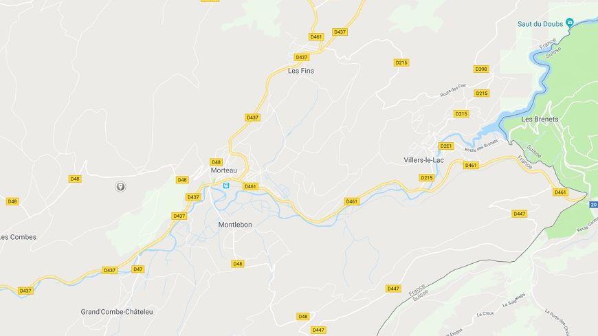 Le choc entre deux voitures s'est produit peu après 10 heures à la sortie de la commune direction Fuans sur la départementale 461.