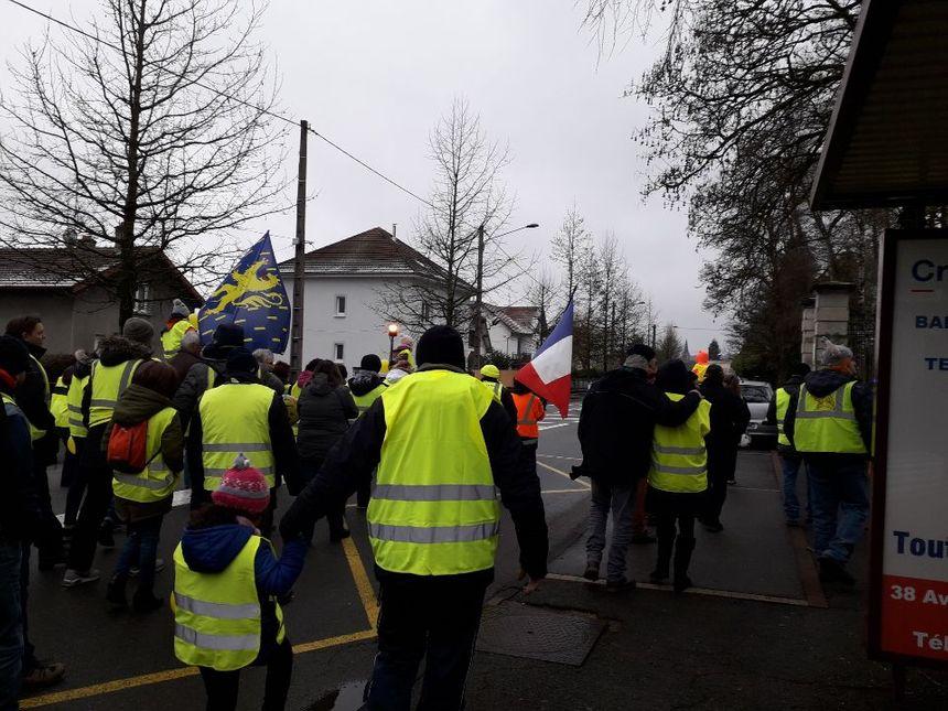 Manifestation à Héricourt.
