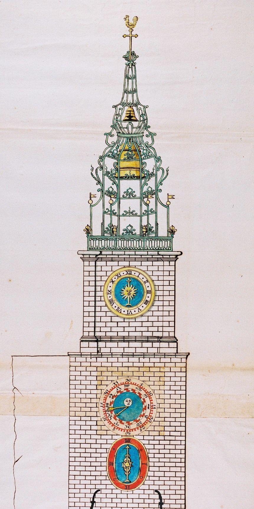 Le soleil servait d'élément de décoration à l'horloge principale