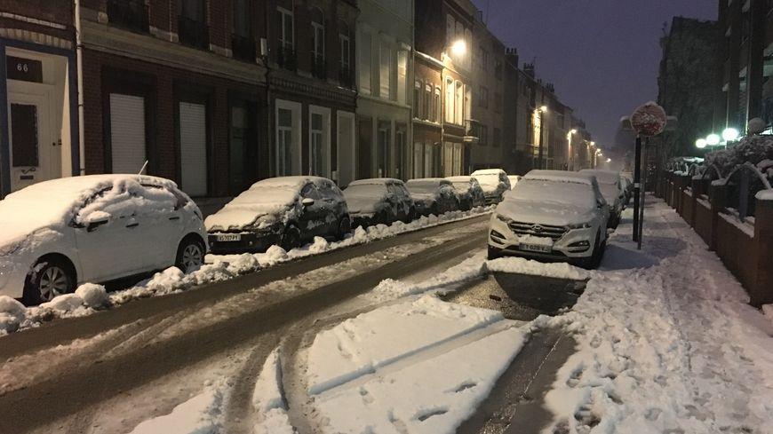Il est tombé 10 à 15 cm de neige à Lille ce mercredi 30 janvier 2019